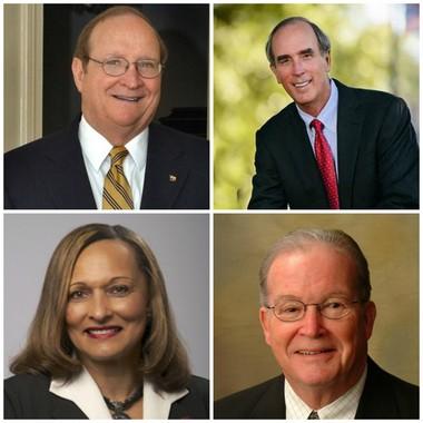 Clockwise from top left: Alabama Agriculture Commissioner John McMillan, Mobile Mayor Sandy Stimpson, State Senator Jabo Waggoner, and State Senator Vivian Davis Figures.