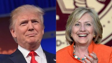 Candidates Donald Trump and Hillary Clinton.