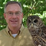 Doug Adair with Coosa the Barred Owl