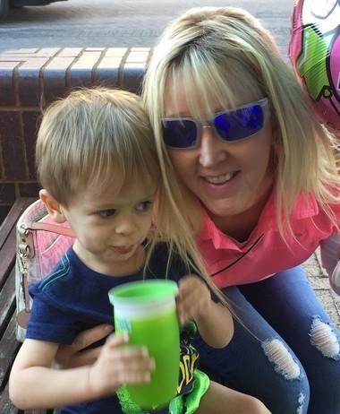 Kaleb Huffman, age 2, and his Nana, Leisa Cook