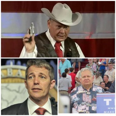 Roy Moore, Jim Zeigler and Ed Henry.