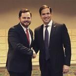 David Wisdom and Marco Rubio