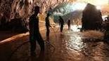 Rescuers early in the Thai cave mission.