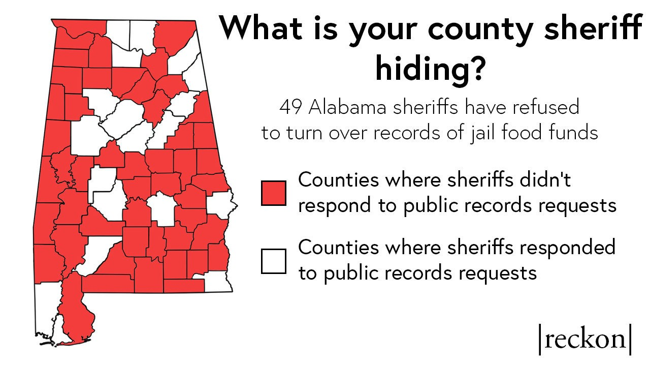 49 Alabama sheriffs hide jail food funds, flout open records