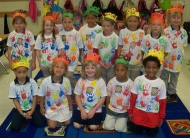 Students in Cindy Malone's kindergarten class at Calcedeaver Elementary School recently celebrated the 100th Day of School. From left, bottom row are Anthony Rivers, Shilah Huckabee, Victoria Cowart, Auston Rivers and Larry Brooks; top row, from left, Jacey Frazier, Baylee Schaffer, Gregory Rustige, Robert Morrison, Gage Sullivan, Teddy Weaver, Emmagrace Weaver, Shawna Smith and Katherine Collins (Courtesy of Heather Snow)