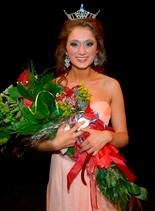 Ember Langley was crowned 2013 Miss University of Mobile on Feb. 2. (Courtesy of Kathy Dean)