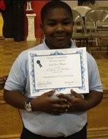 Liston Richard is the winner of Grant Elementary School's Spelling Bee. (Courtesy of Grant Elementary School)