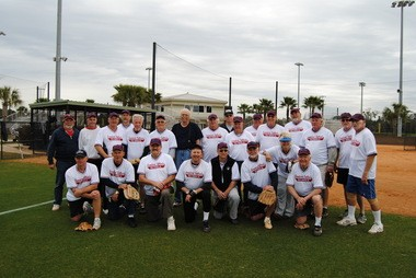 Senior Snowbird Softball players who play at Gulf Shores say