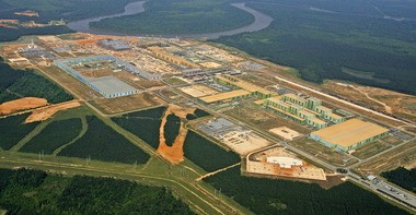 The ThyssenKrupp steel mill is seen in this aerial photo taken May 17, 2012 in Calvert, Ala. (Press-Register file photo)