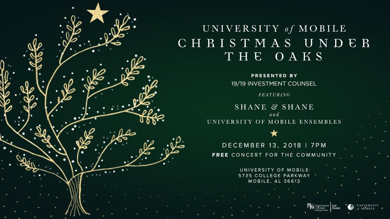 Christmas Under The Oaks.University Of Mobile Invites Community To Christmas Under