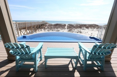 Beach Therapy, a 4,600 square-foot beach home located along West Beach in Gulf Shores is a huge beach home with six bedrooms, six bathrooms and a stunning great room overlooking the Gulf of Mexico. The house is on the market for $2.5 million or can be rented this summer for around $2,300 per night.(Photos by Brian Kelly/bkelly@al.com)