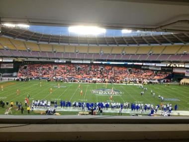 The Military Bowl in Washington D.C., reported the smallest crowd for any bowl game in seven years.