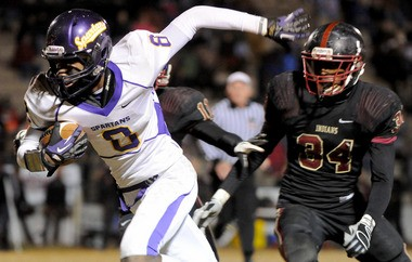 Pinson Valley linebacker prospect Zach Cunningham stalks down Pleasant Grove ballcarrier Aaron Williams in this December 2012 photo from their Class 5A first round playoff matchup. Cunningham was named the Birmingham News 2012 Metro Lineman of the Year this fall. (Mark Almond/malmond@al.com)