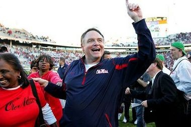 Mississippi has agreed to pay former coach Houston Nutt a lump sum of $4.35 million to complete his contract buyout. (File | AL.com)