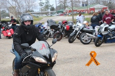 Bikers gather at Faulkner State Community College for the 2012 Ride for Starla. (Courtesy of BMB Rockets Motorcycle Club)
