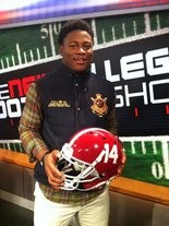 Reuben Foster after committing to Alabama on Feb. 4, 2013. (Photo tweeted by Scout.com's Chad Simmons)