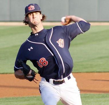 Daniel Koger set to make the first pitch for Auburn (Todd Van Emst)