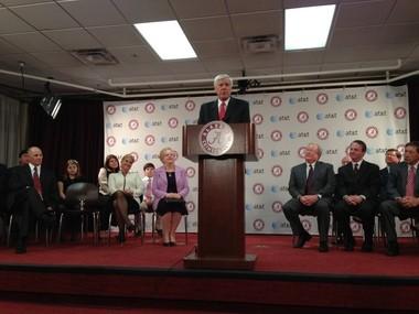 Bill Battle introduced as new University of Alabama athletics director on Friday. (Vasha Hunt   AL.com)