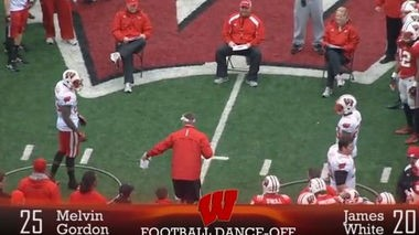 Wisconsin first-year coach Gary Anderson took a break from spring football and decided to have his players compete in a dance off instead. (YouTube)