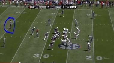 "The experimental ""A"" official the SEC used at Auburn's spring game on April 20, 2013."