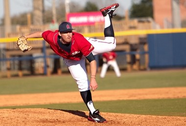 South Alabama closer Kyle Bartsch was selected in the seventh round of Major League Baseball first-year player draft today by the Kansas City Royals. He was the 204th overall pick in the draft. (Photo courtesy of South Alabama.)