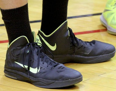 Isaac Haas of Hokes Bluff wears size 22 shoes and already weighs 276 pounds. He listed UAB as his leader among his college options at this point. (Dennis Victory/preps@al.com)