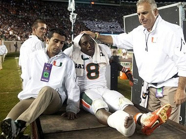 Miami running back Duke Johnson's injury could prevent the Hurricanes from winning the ACC Coastal Division. (The Associated Press)