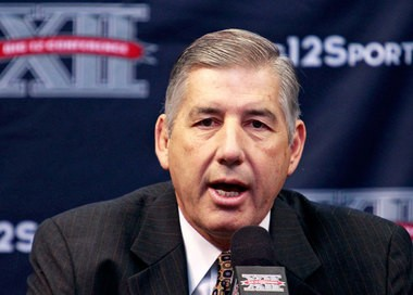 Big 12 Commissioner Bob Bowlsby says there is no question fans would respond negatively to college football and basketball players being paid for appearing on television.