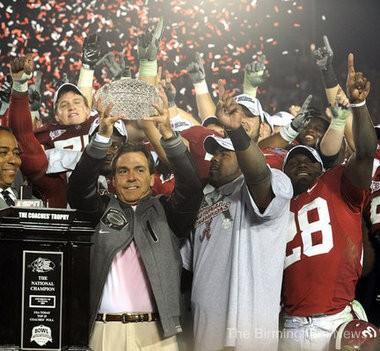 Nick Saban and Alabama defeated Texas for the 2010 BCS championship. That Alabama team is one of only two teams during the SEC's seven-year championship run to go undefeated.