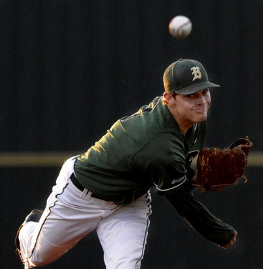 UAB's Chase Mallard pitches to a Southern Miss batter at Young Field in Birmingham, Ala., Friday, April 11, 2014. Mallard was named Conference USA Pitcher of the Year. (Mark Almond/malmond@al.com)