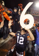 Here's how tough the competition was -- we couldn't get any of Auburn's six-straight wins under Tommy Tuberville in the mix, including the 2007 game with quarterback Brandon Cox. (AL.com file)