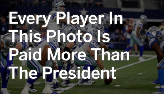 Minimum Salaries In Major Pro Sports Exceed U S President S