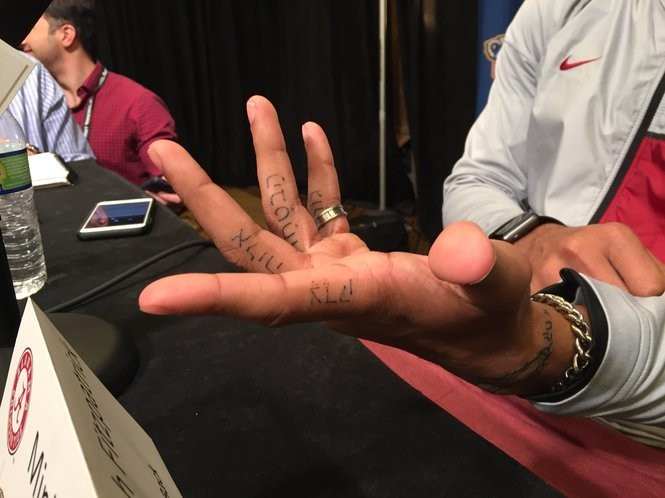 Minkah Fitzpatrick's new tattoos are the names of his siblings in Hebrew script.