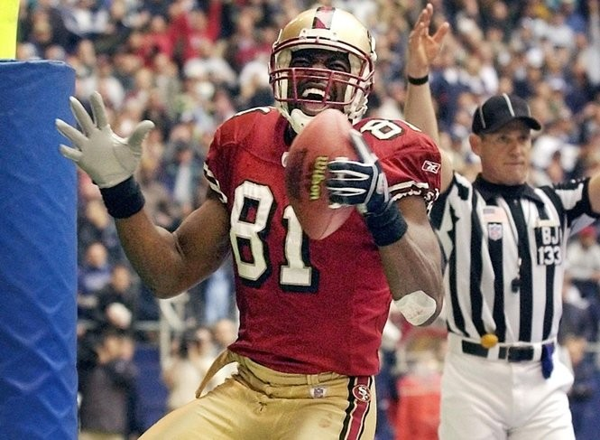 Wide receiver Terrell Owens started his 15-year NFL career with the San Francisco 49ers.