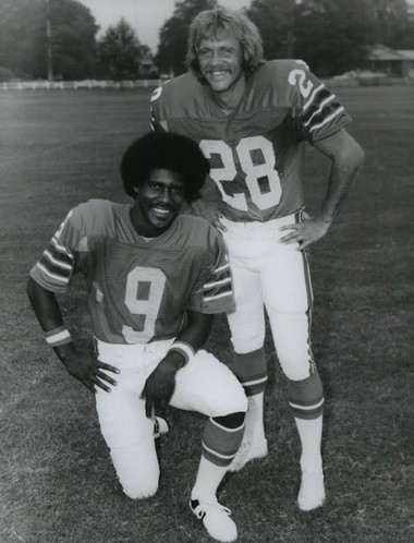 Former Auburn standouts Larry Willingham (28) and Thom Gossom (9) played for the WFL's Birmingham Vulcans in the mid-1970s. (AL.com file photo)