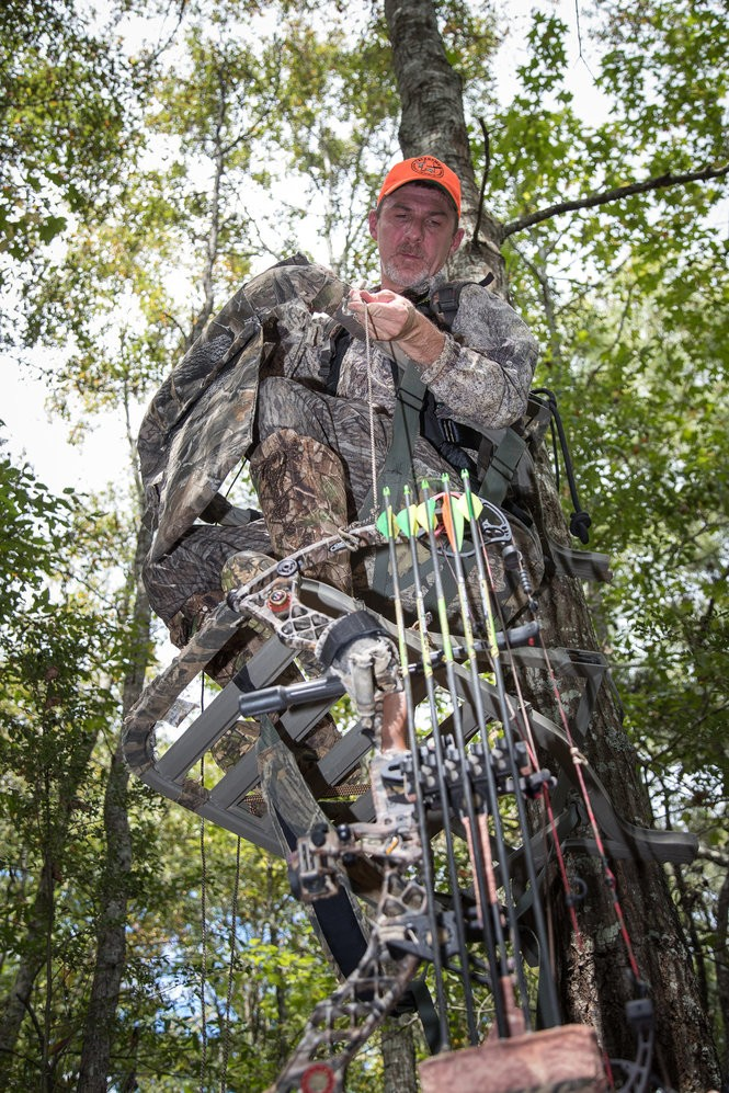 Use of a tree-stand greatly improves the odds of success for whitetail hunters, particularly archers, but the ADCNR says the elevated stands can also be dangerous if hunters do not take security precautions and use harnesses.