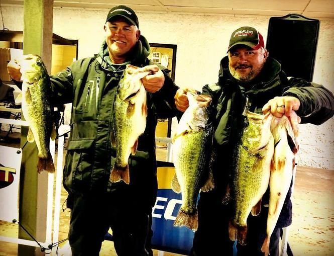 Johnny Patterson and Bryan Douglas were top rods in the Rat-L-Trap tournament on Lake Guntersville, with a winning catch of nearly 30 pounds.