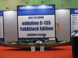 The eddyline C135 YakAttak was named not only best kayak in the show, but also best overall product.