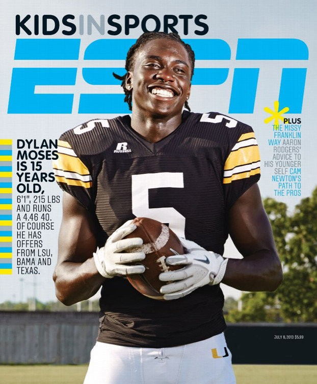 9th Grade Phenom And Alabama Recruit Dylan Moses Featured On Cover Of Espn The Magazine Al Com