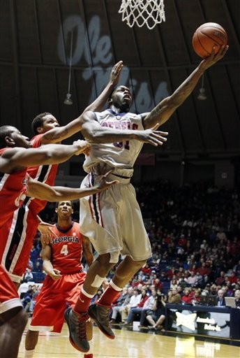 Murphy Holloway averaged 14.5 points and 9.7 rebounds for the Ole Miss basketball team this year. (Associated Press)