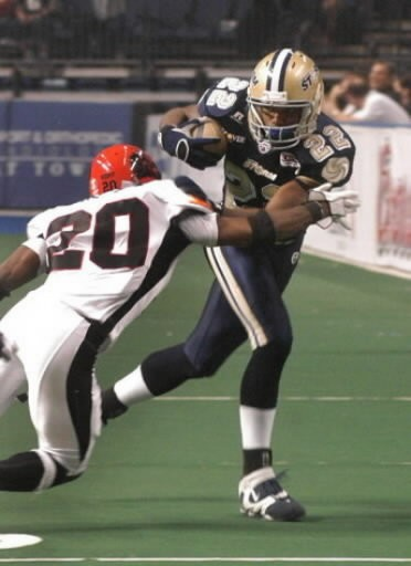 Lawrence Samuels was the first Arena League Football player to catch 1,000 passes. (Press-Register file)