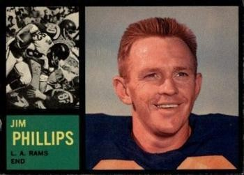"Jimmy ""Red"" Phillips' 1962 Topps football card"