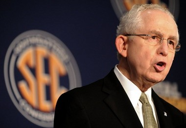 SEC Commissioner Mike Slive, shown here at SEC football media days last summer, said he believes the NCAA can restore public confidence.