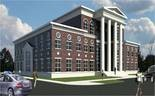 Drawing of new Bessemer City Hall by architect Carl Exford.