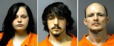 Krysta Nicole Horton, 19 (from left), Alexander Keith Mann, 19, and Christopher Eric Lunday, 34, face charges of trafficking, manufacturing of a controlled substance, possession of marijuana and possession of drug paraphernalia. (Photos courtesy of the Walker County Sheriff's Office)
