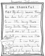 Thankful Thoughts from students in teacher Joni Colmer's third-grade class at Calera Intermediate School in Shelby County.