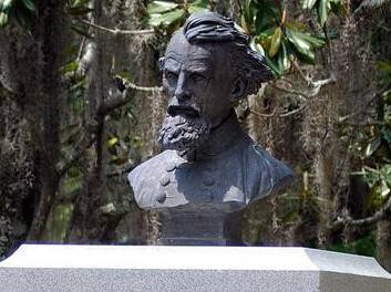 A bust from the monument honoring Confederate Gen. Nathan Bedford Forrest in Selma, Ala., is shown on April 30, 2011. (AP file photo)