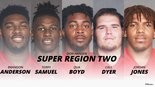 These five UWA football players were named to the 2018 Don Hansen Super Region Two Team.