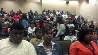 More than 80 Alabama State University students attended an open forum Monday night to discuss the preliminary findings of a forensic audit that alleges wrongdoing by university trustees. (Evan Belanger/Alabama Media Group)