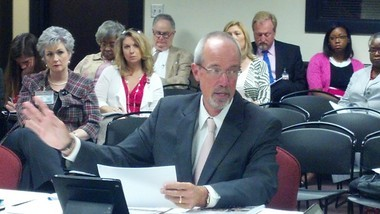 State Superintendent Tommy Bice at a state board of education work session. (Evan Belanger/Alabama Media Group)